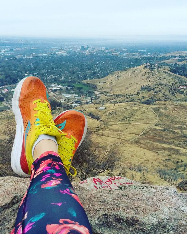 Trail running in Boise Idaho