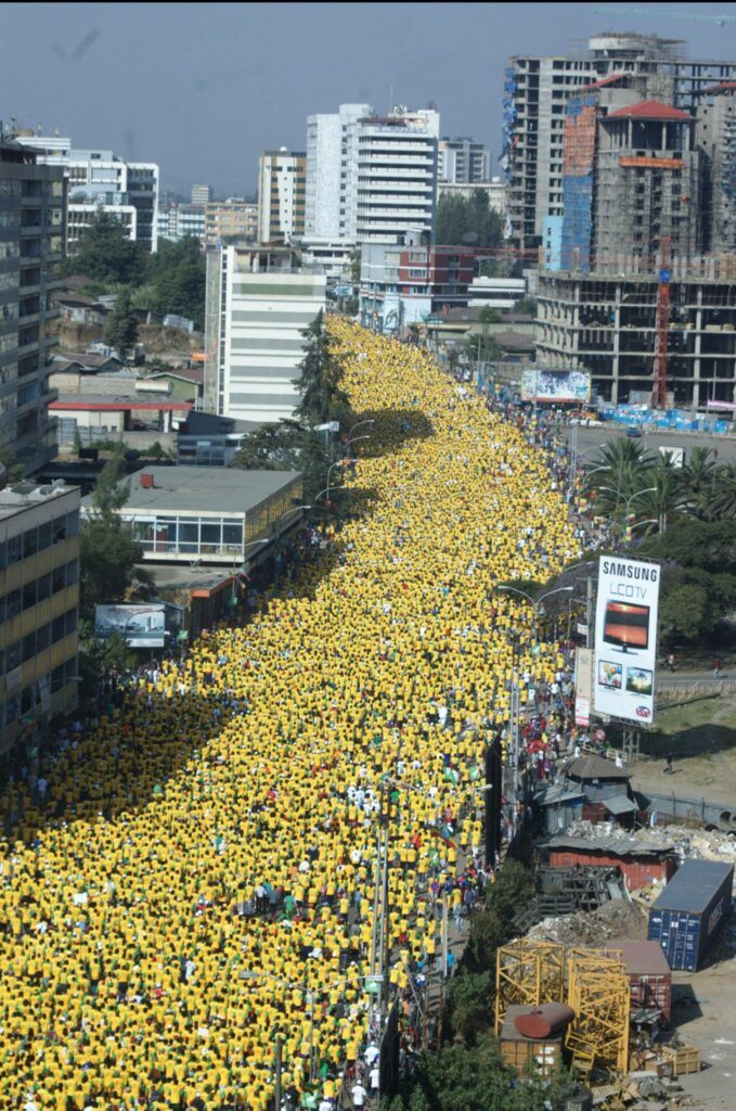 Look at the crowd at the Great Ethiopian Run