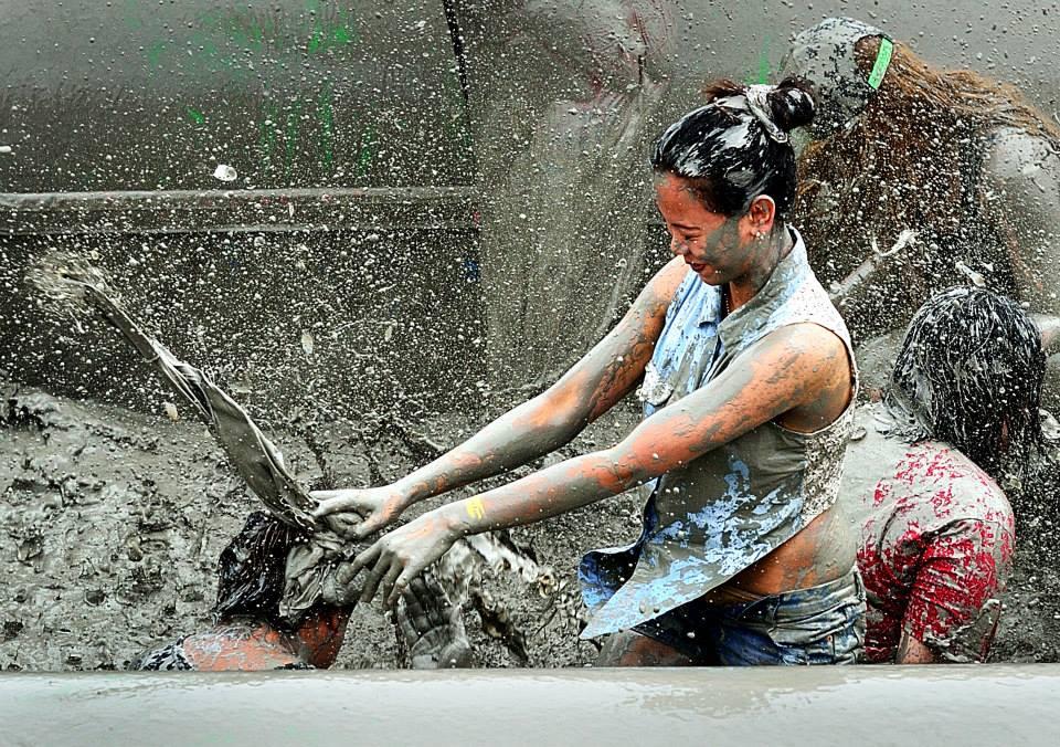 having fun in the mud