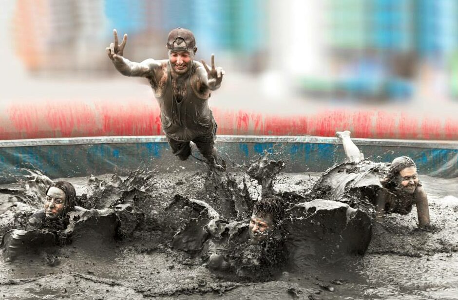 Jump into the mud
