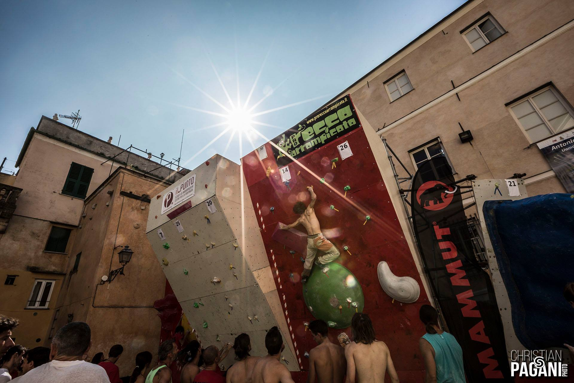 Climbing in Italy at Finale For Nepal