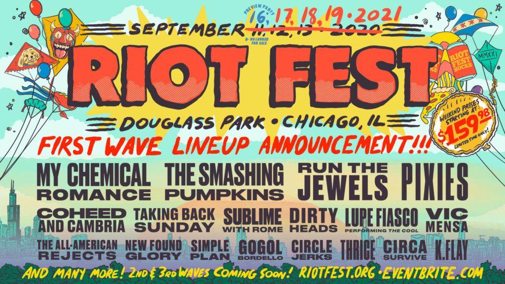 Line up for Riot Fest 2021