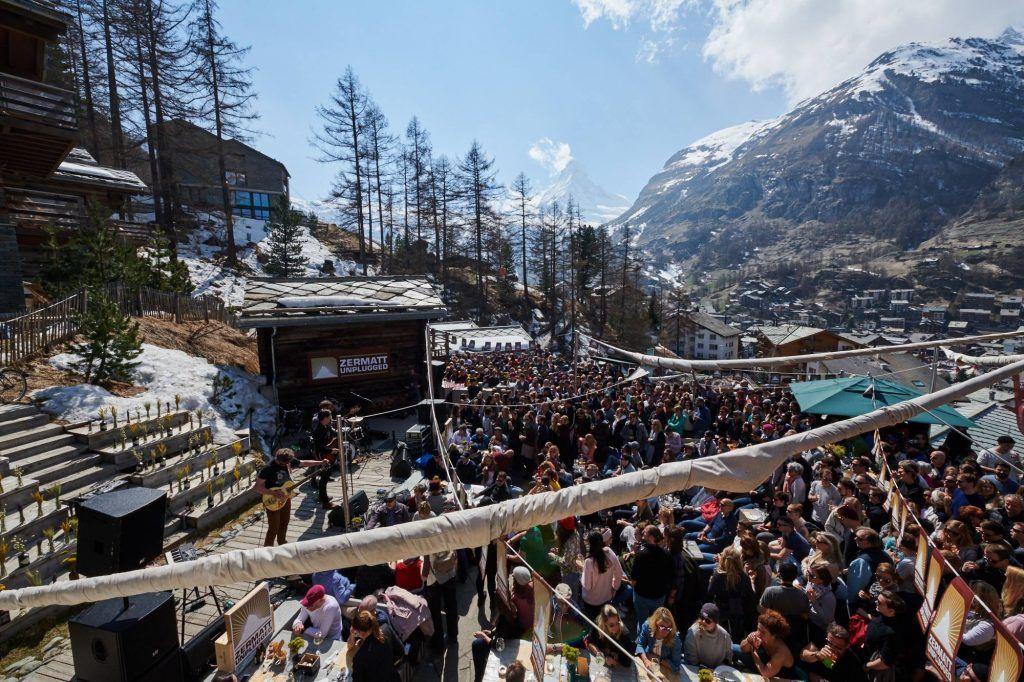 Outdoor stage in Zermatt