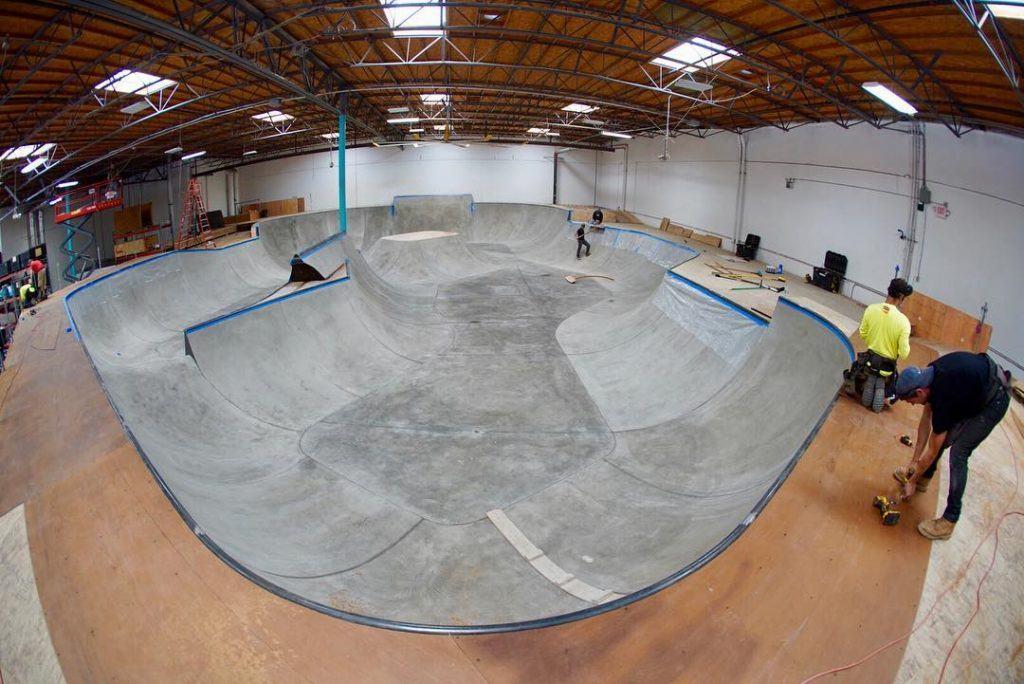 Skateboard training facility in california