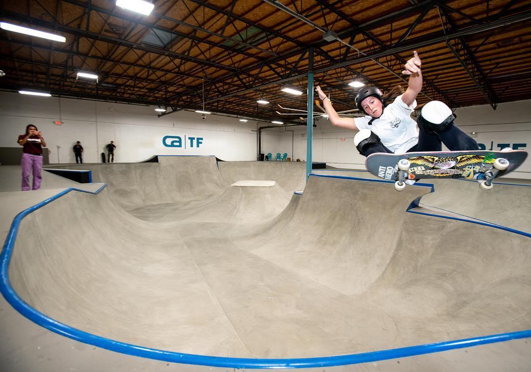 Skateboard training at CA TF in california