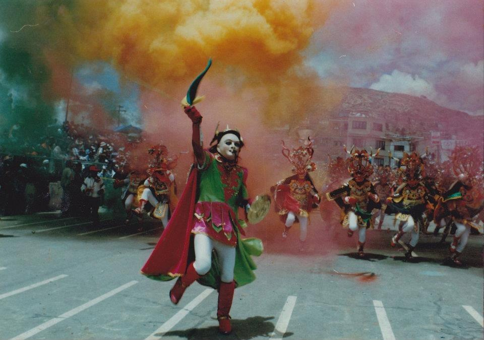 Carnaval de Oruro devils parade in Bolivia