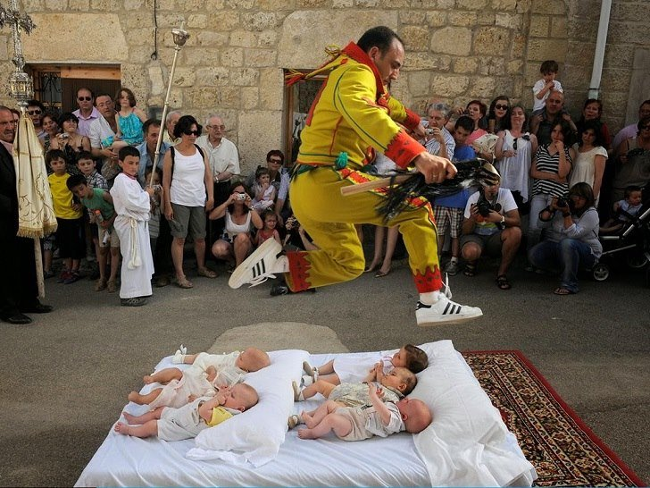 Colacho Baby Jumping Festival in Spain