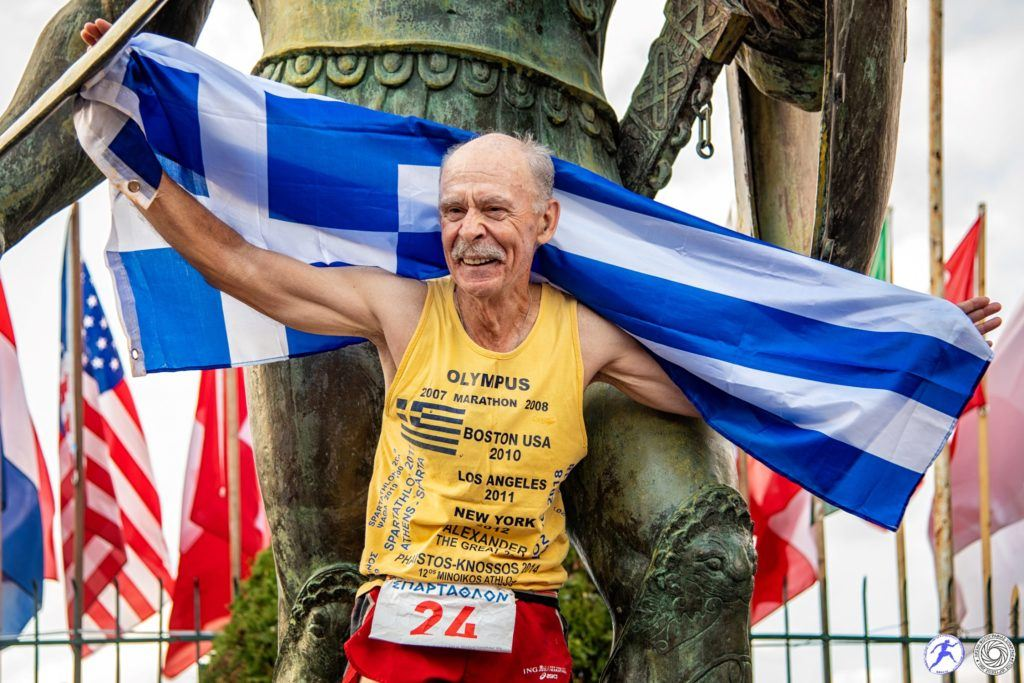 Dimitrios Chronis Finisher of 2017 & 2019 Spartathlon Race at 68 Years old