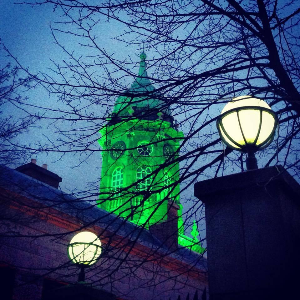 Ireland lit up