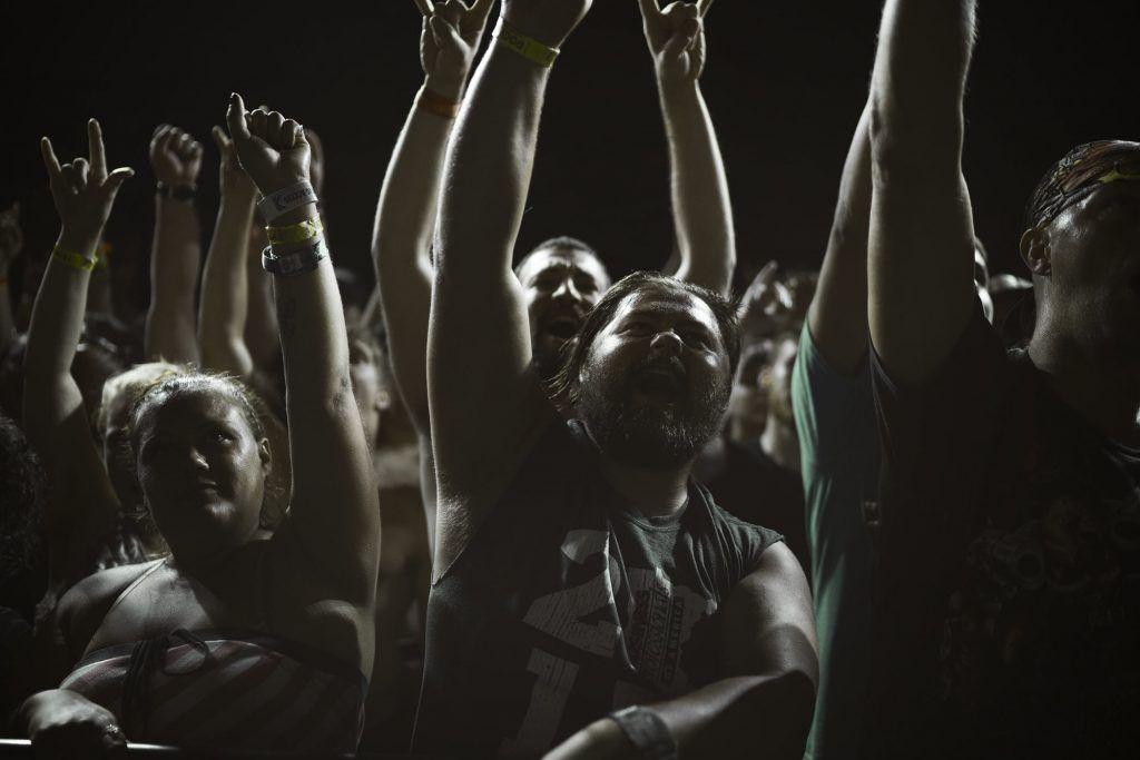 Fans at Rock Fest