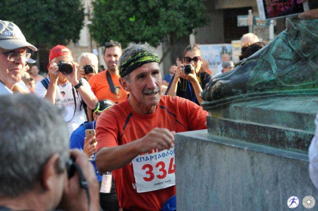 Hubert Karl from Germany: 22 time finisher of Spartathlon