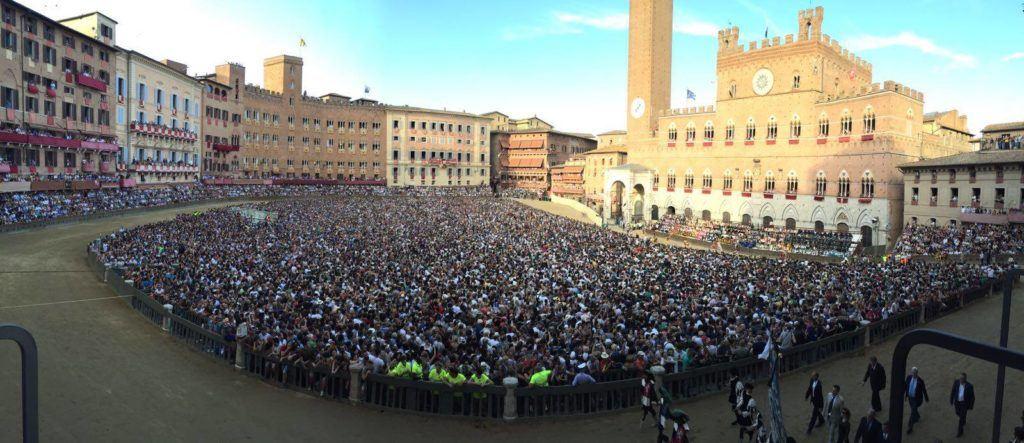Il Palio is held on the Piazza del Campo
