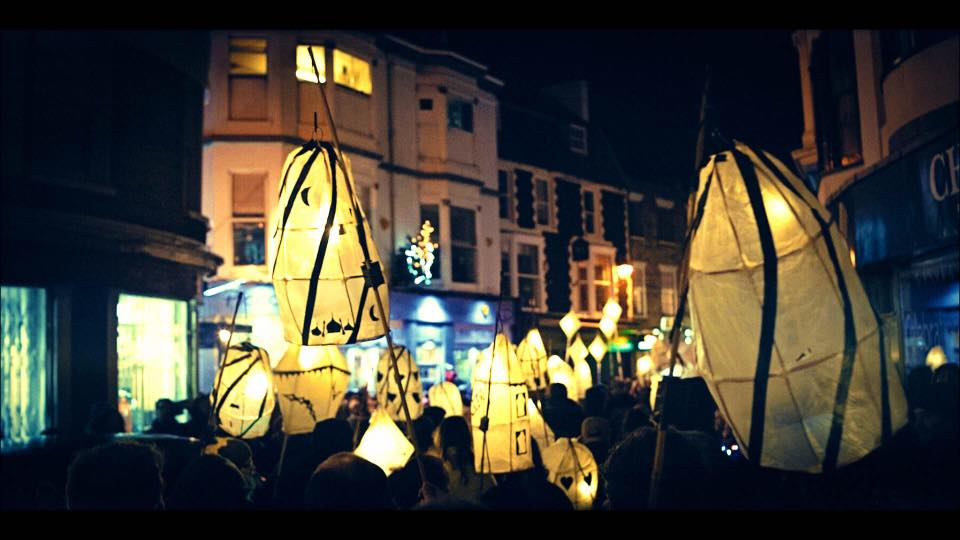 Home-made lanterns in Brighton