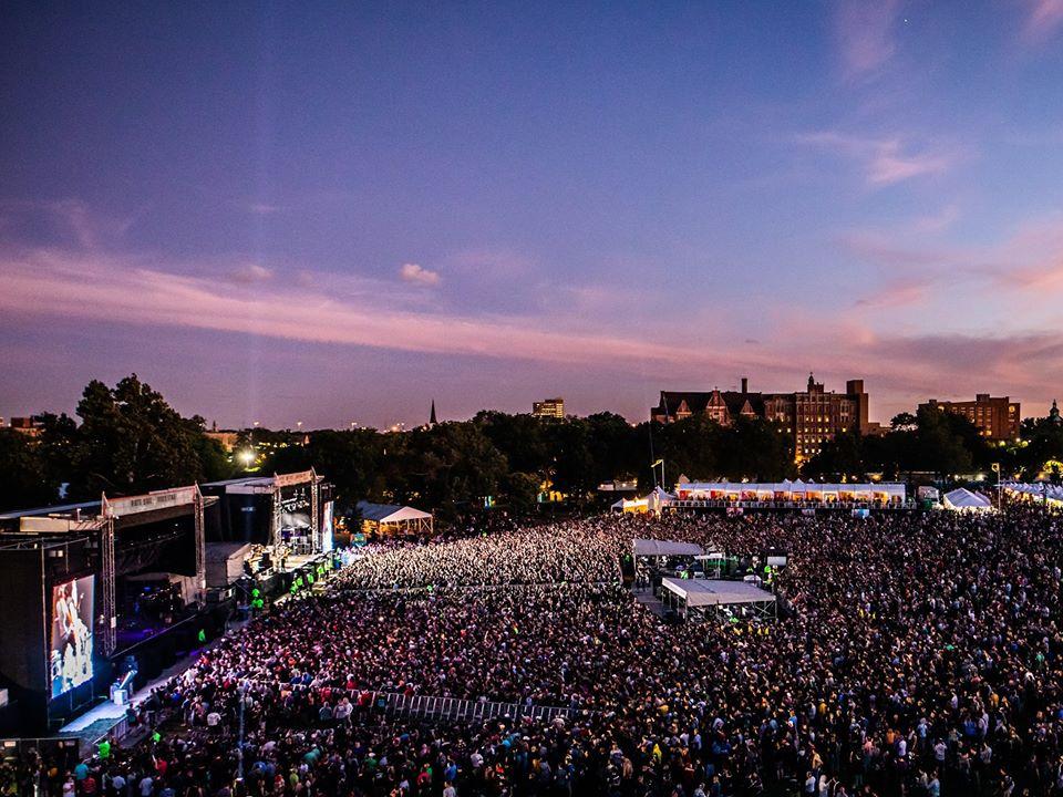 Riot Fest crowd in Chicago