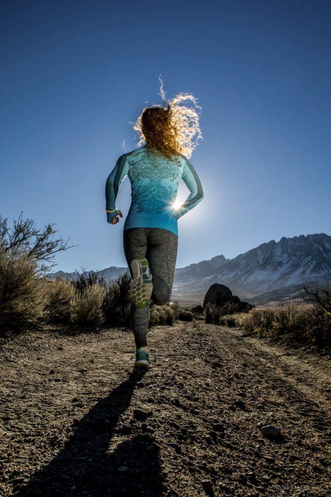 Trail running in Bishop, California