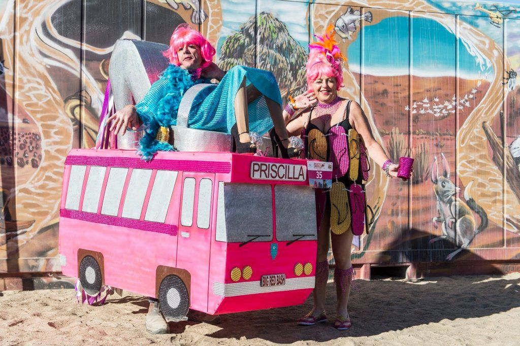 Pack a drag costume for Big Red Bash