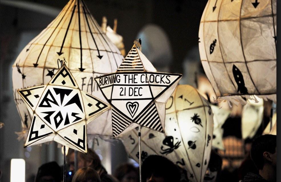 burning of the clocks, December festivals in brighton