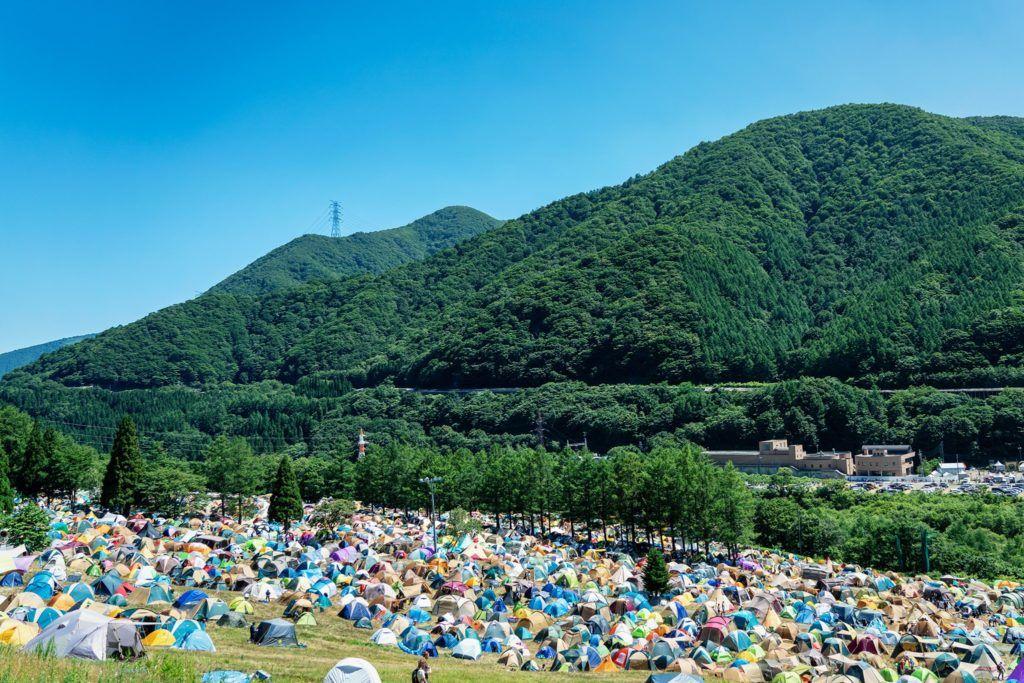 Camping at Fuji Rock