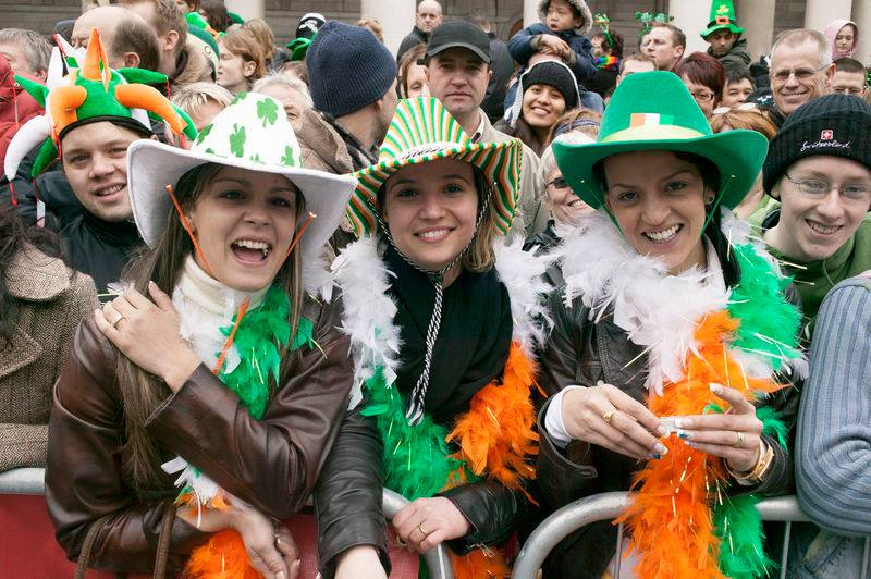 Dress up in green for St Patrick's Day in Ireland