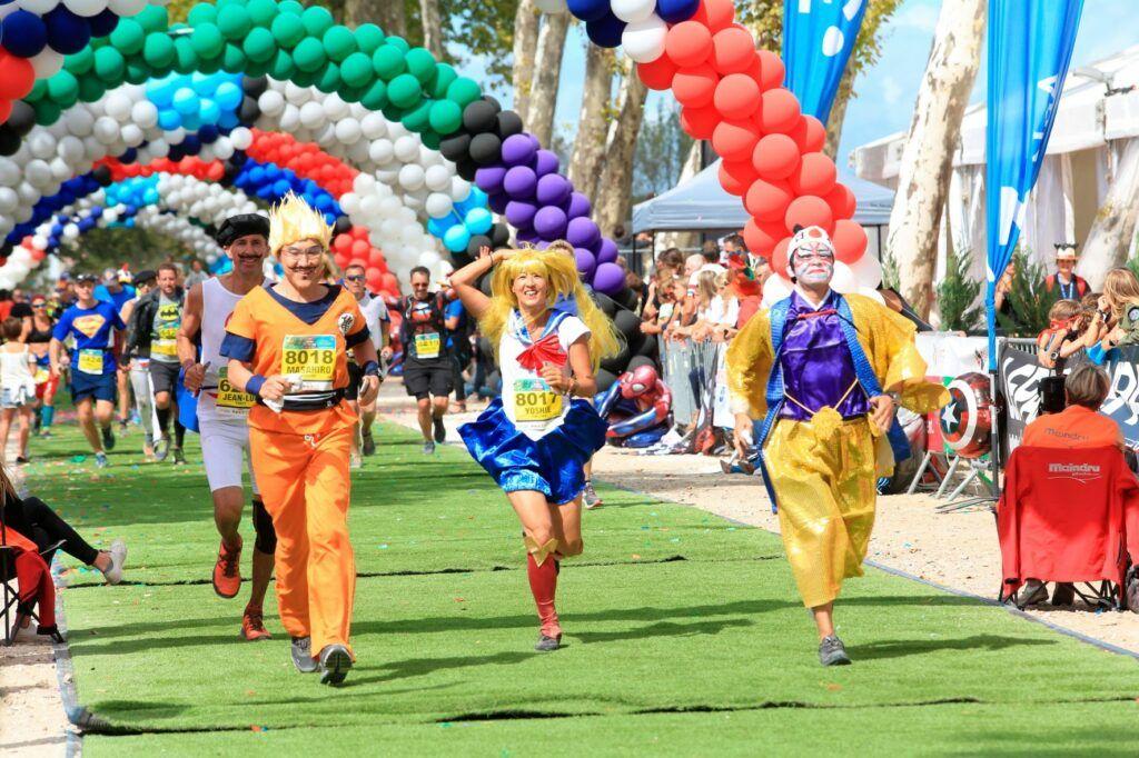 finishing the Marathon du Médoc