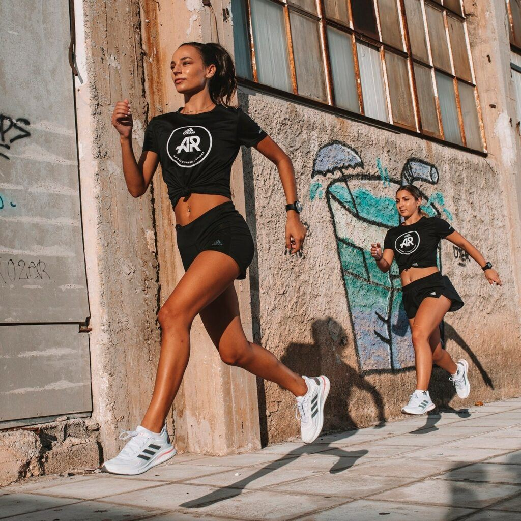 running around Athens
