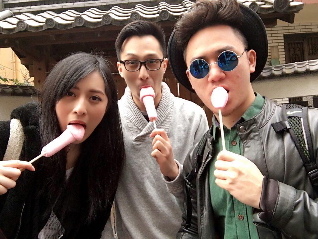 sweets at Kanamara Matsuri in Kawasaki