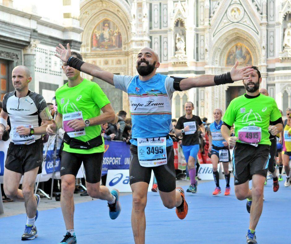 Finishing the Florence Marathon