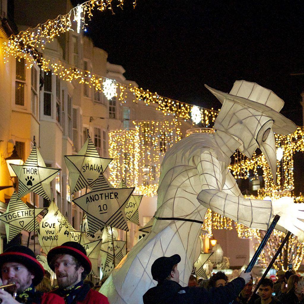 lights and lantern show in Brighton