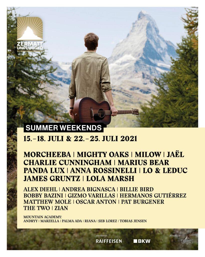 Zermatt Unplugged 2021 Lineup