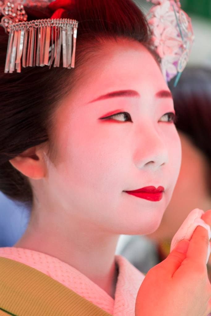Geisha at the festival