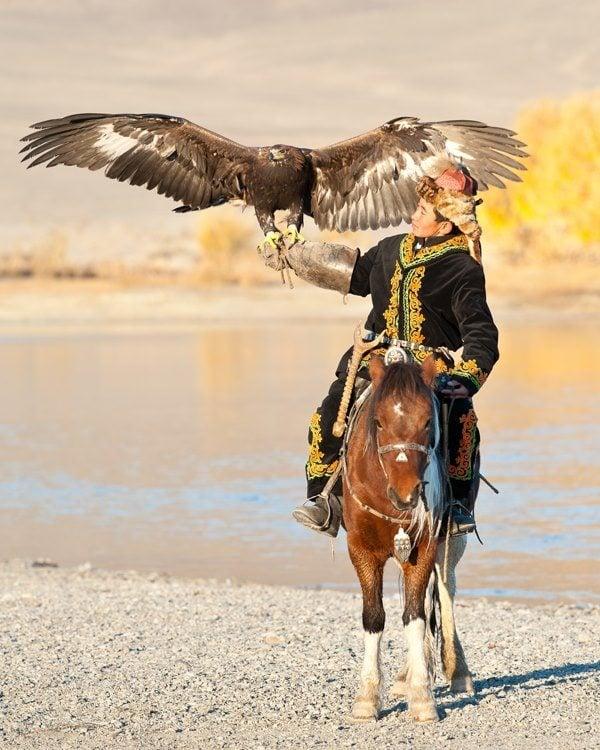 nomad in Mongolia at Naadam