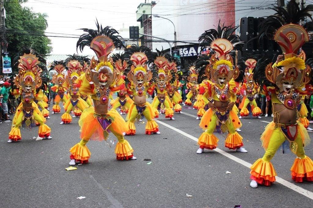Street parade at the Masskara Festival