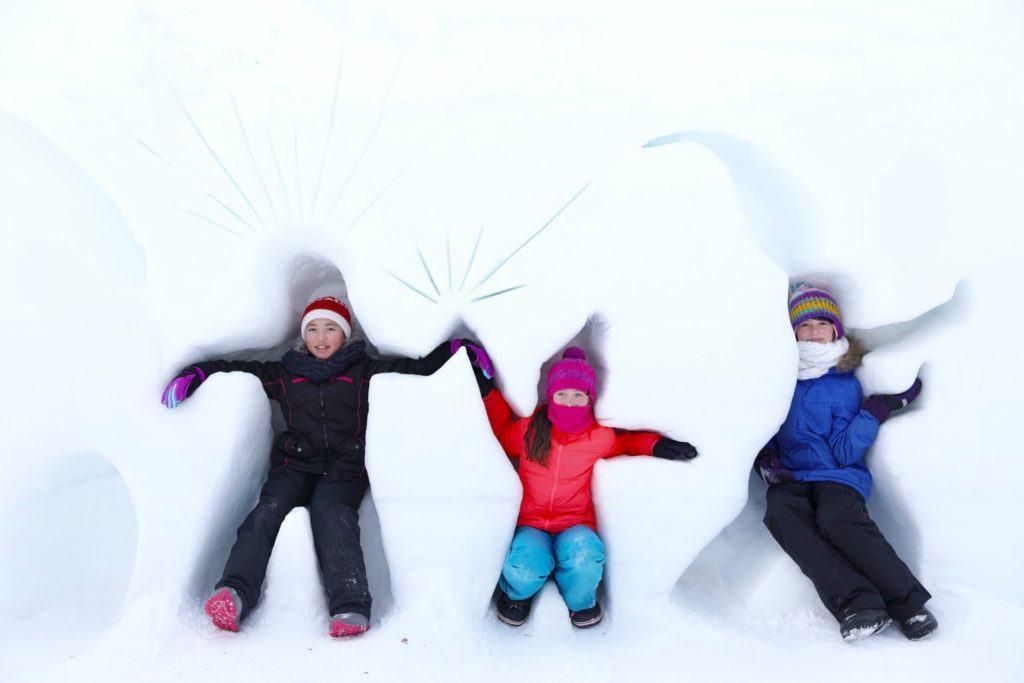 snow angels in Ottawa