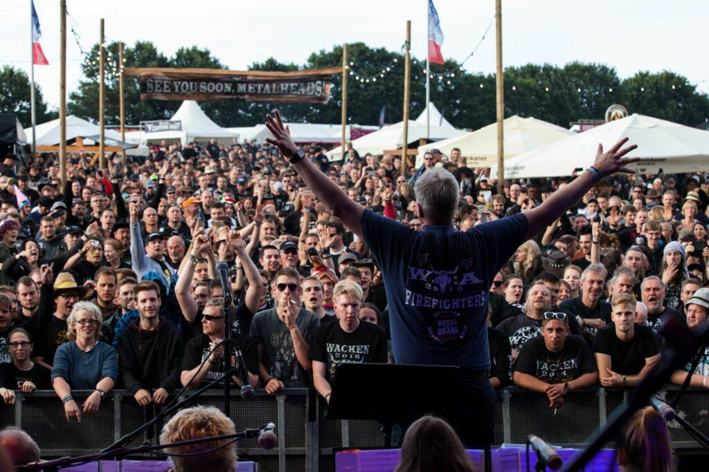 on stage at Wacken