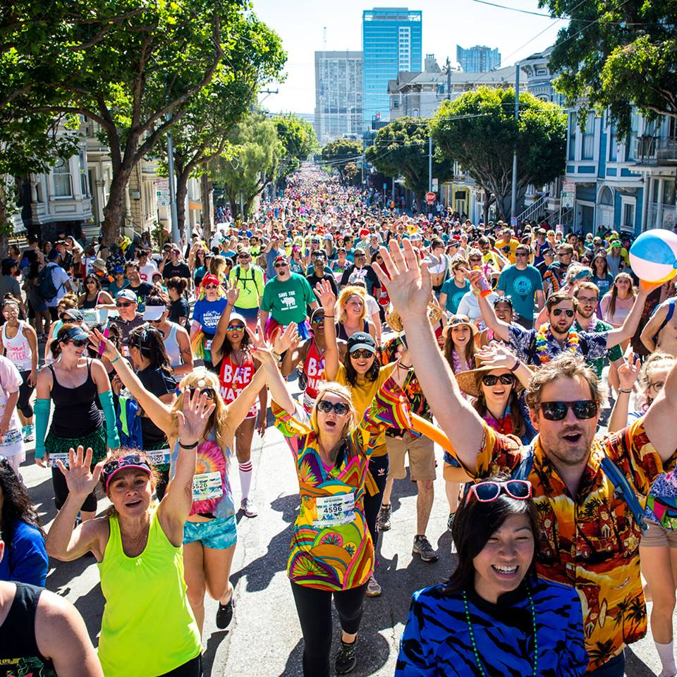Bay to Breakers crowd in San Francisco