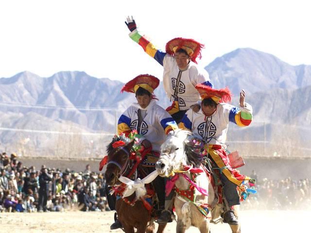 Losar Festival in Tibet, China