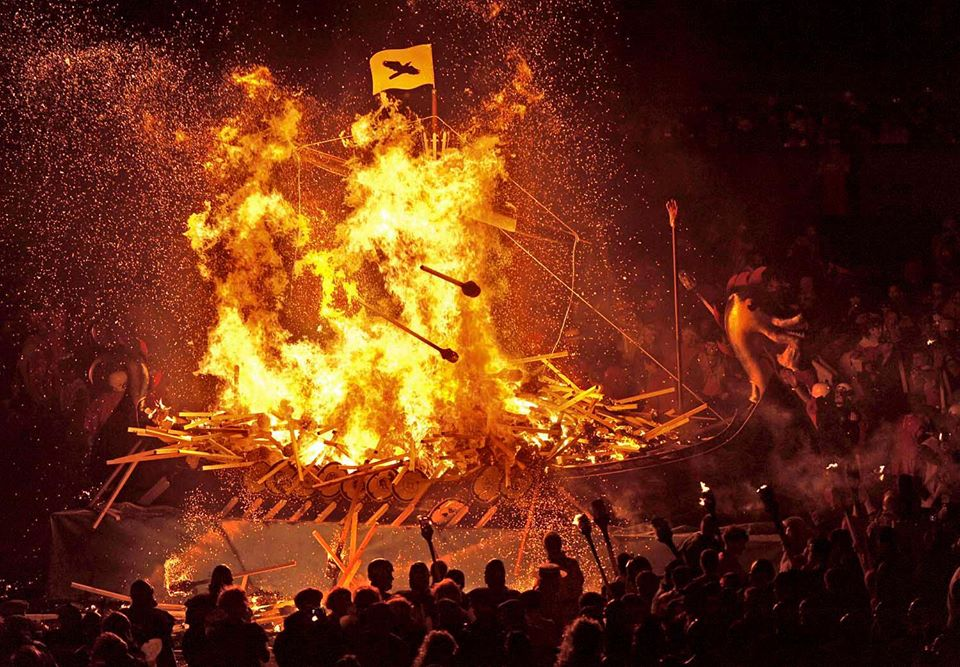 Up Helly Aa viking festival in Scotland