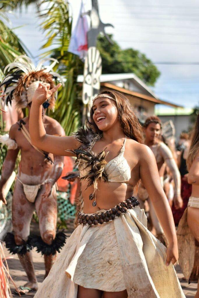 girls dressed up at Tapati Rapa Nui