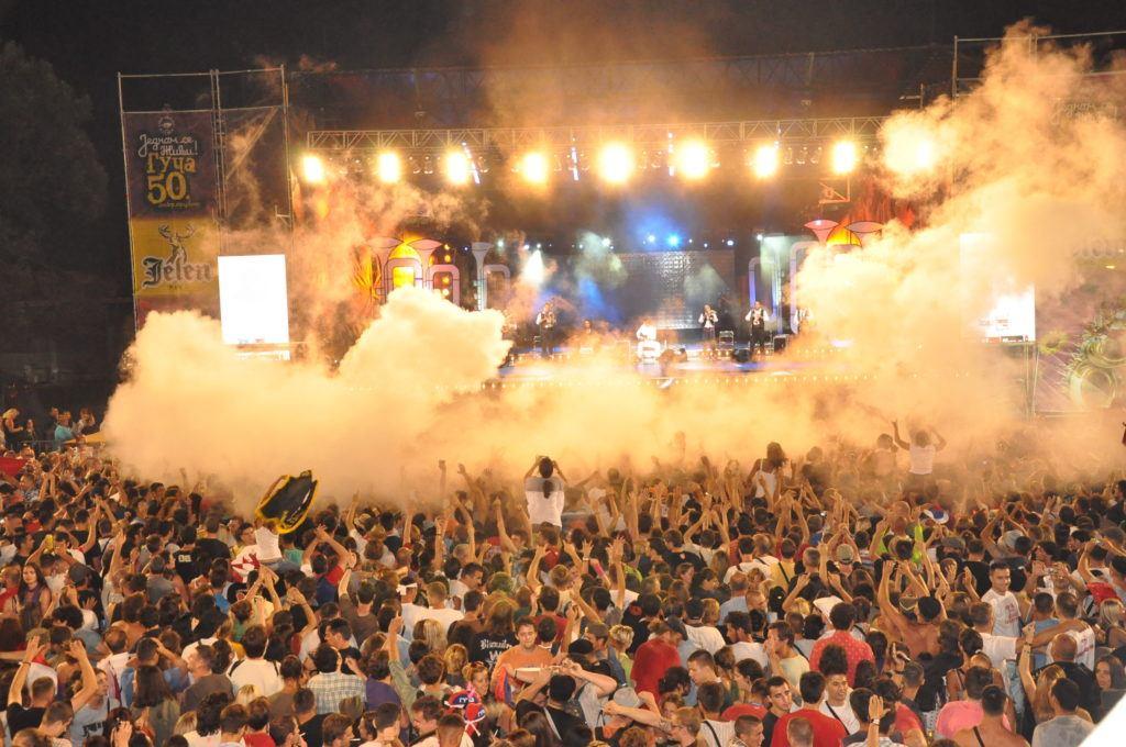 Concert at the Guca Trumpet Festival