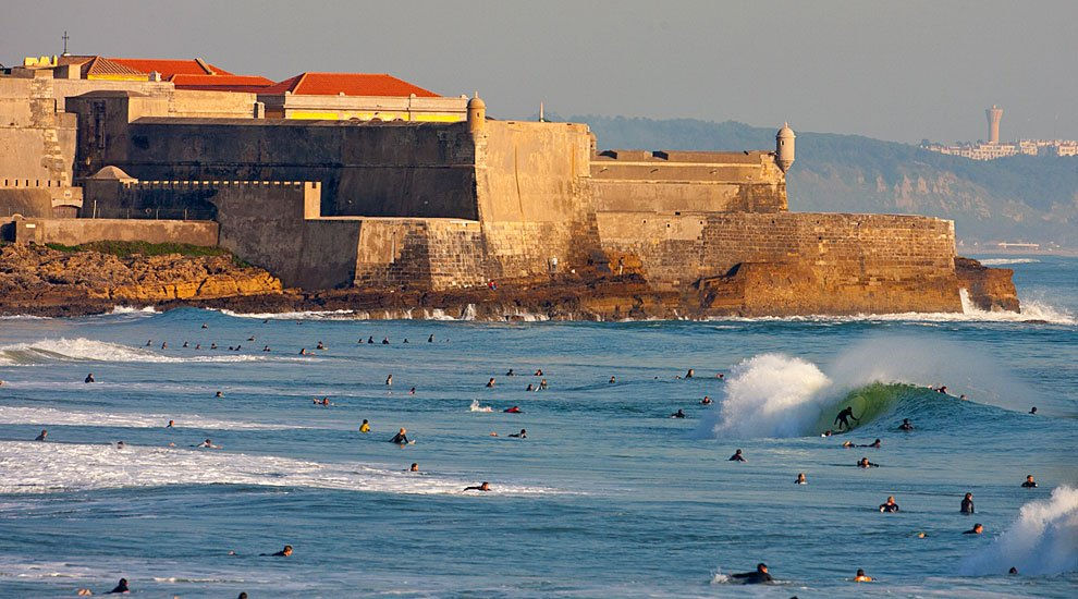 Surfing at Carcavelos best surf beaches in Portugal