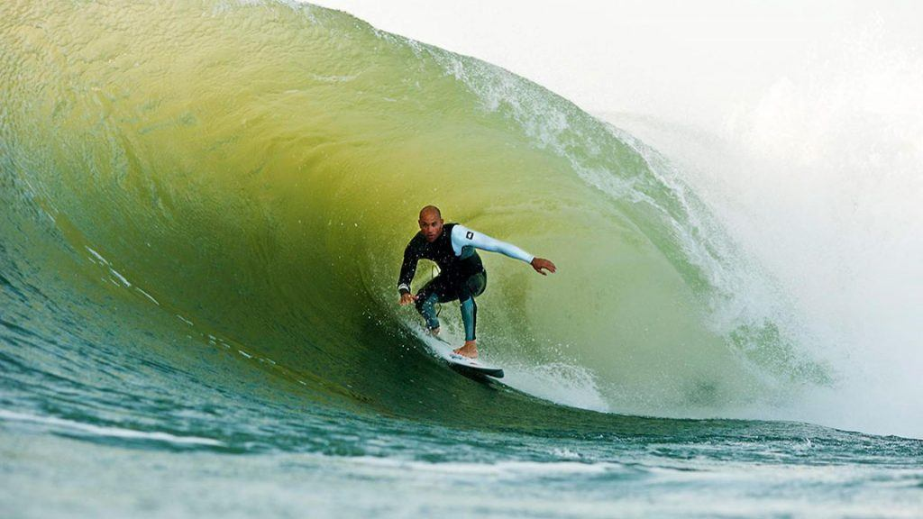 Kelly Slater surfing Coxos best surf beaches in Portugal