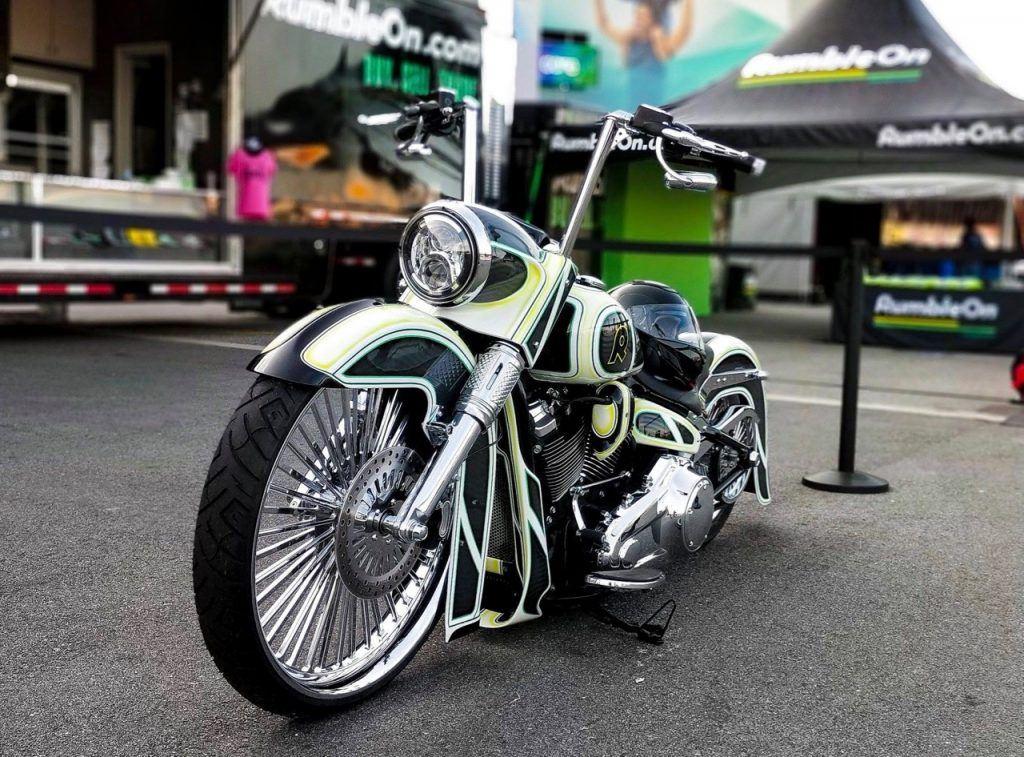 Motorcycles on show at Daytona Bike Week