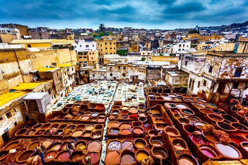 market over Fez, Morocco