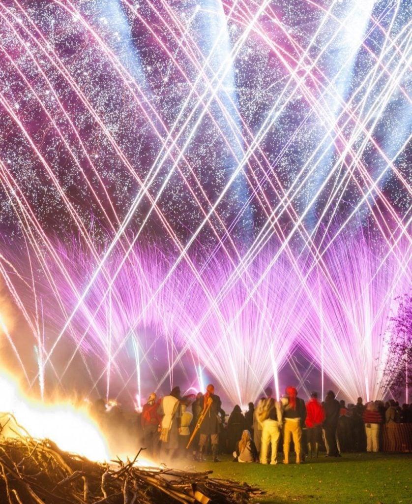 Fireworks at Lewes Bonfire
