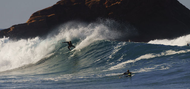Surfer at Ponta Ruiva best surf beaches in Portugal