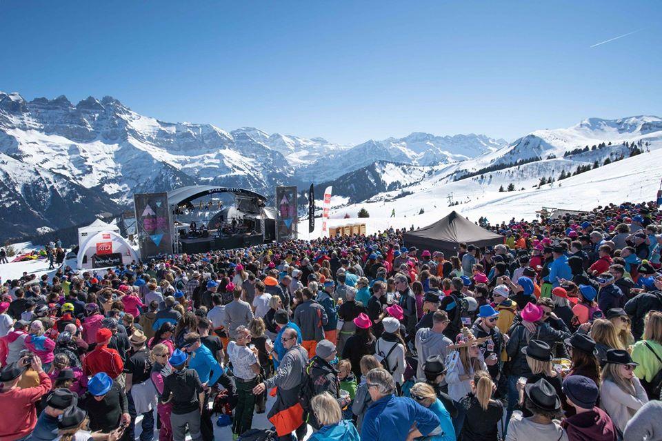 Rock the Pistes music festival crowd