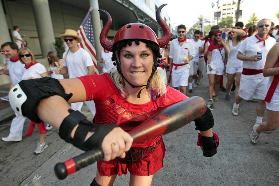 Rollergirl at Running of the bulls New Orleans