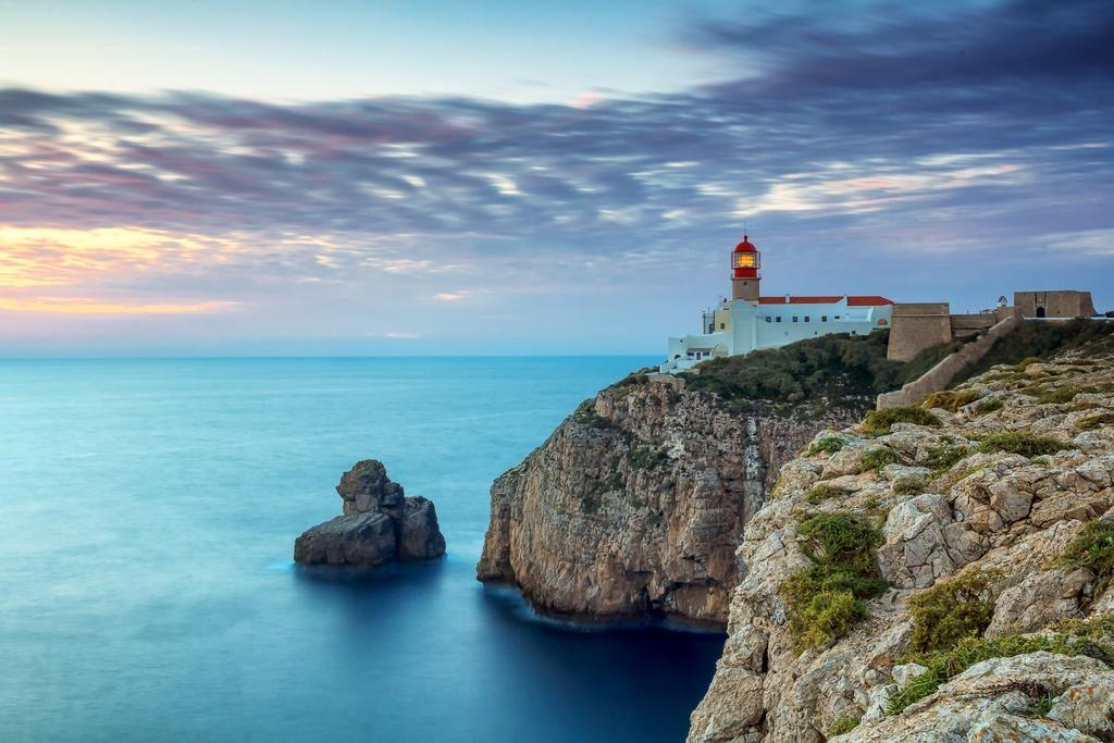 Sagres fort and lighthouse one of the best surf beaches in Portugal