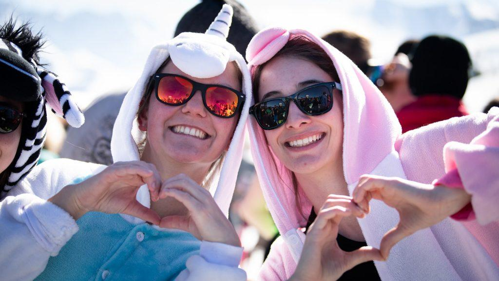 Fans at Rock the Pistes