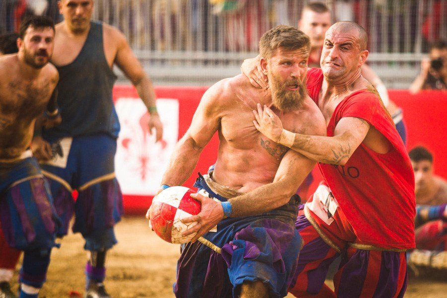 medieval rugby in Florence